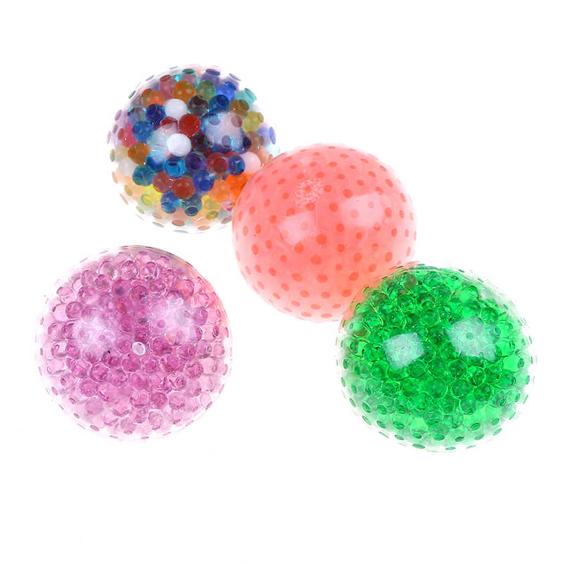Spongy Bead Stress Ball Toy Squeezable Stress Squishy Toy Stress Relief Ball Novelty Funny Anti-stress Toys For Children Adult