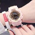 Цифровые часы для девушек  студентов  водонепроницаемые женские спортивные Простые повседневные студенческие мужские модные трендовые ча...
