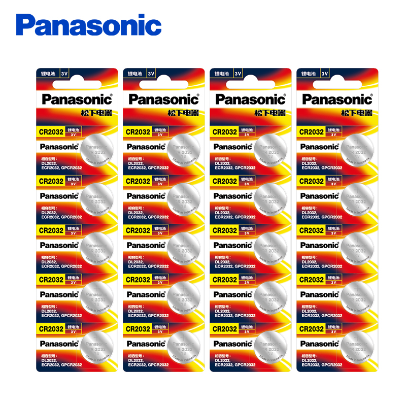 <font><b>Panasonic</b></font> 20Pcs/Lot CR2032 Button Battery 20mm*3.2mm 3V Lithium Button Coin Cell Watch Batteries for Watch Computer CR <font><b>2032</b></font> image