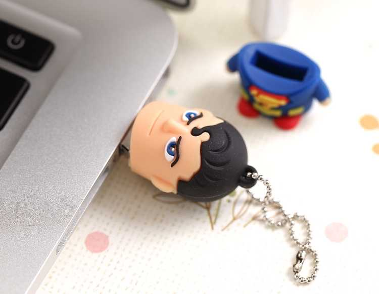 Dysk Flash USB z prawdziwą pojemnością 3.0 Pendrive 64GB Pen Drive 512GB Pendrive 32GB 16GB 128GB Cartoon Superman gadżety zabawki prezent