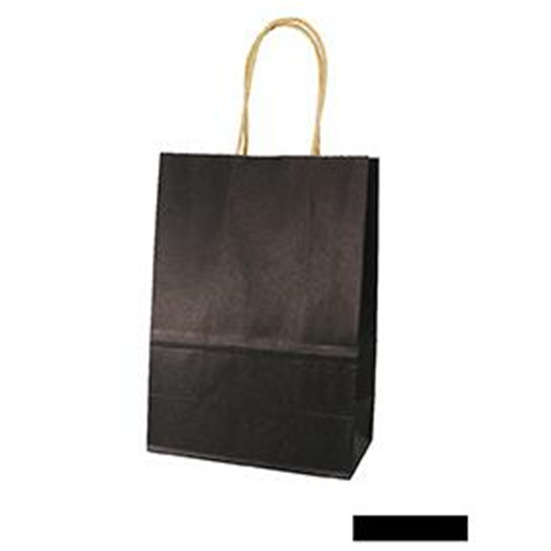 ZGTGLAD 1 Pc Coloured Kraft Paper Handles Bag Recyclable Party Gift Paking Bags Wedding Birthday Shopping Home Decor