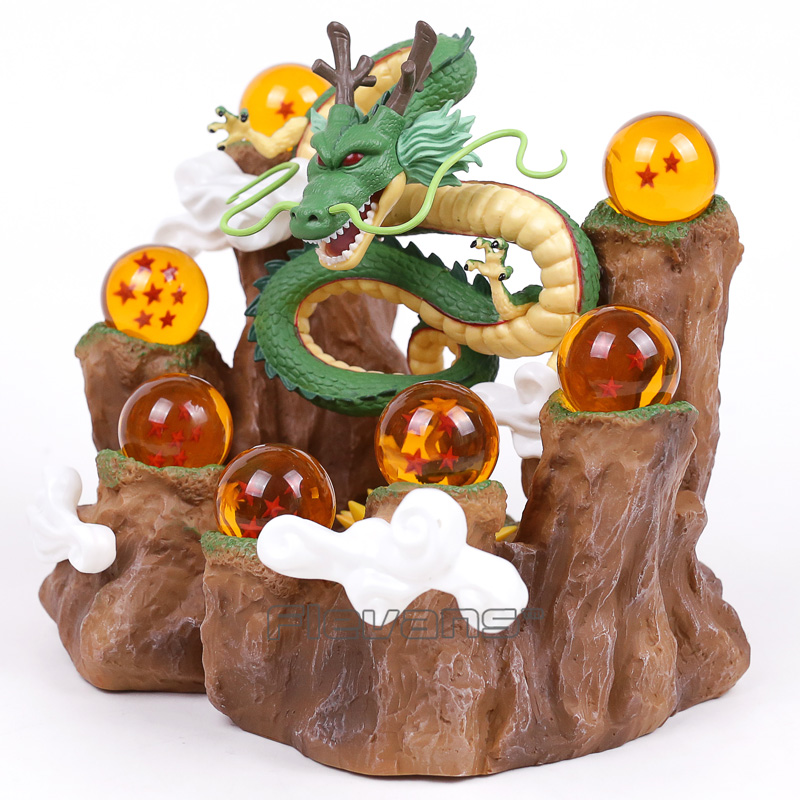 aeProduct.getSubject()  NEW HOT!!! Dragon Ball Z The Dragon Shenron + Mountain Stand + 7 Crystal Balls PVC Figures Collectible Mannequin Toys HTB16CSGadfJ8KJjy0Feq6xKEXXam