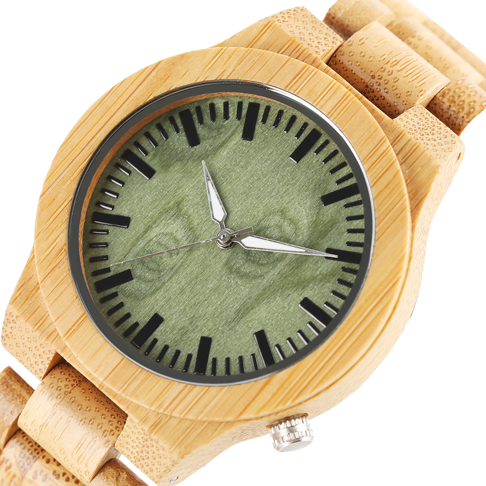 Fashion Nature Wood Bangle Fold Clasp Sport Wrist Watches Women Hot Creative Casual Quartz Bamboo Cool Novel Simple Men Relogio in Quartz Watches from Watches