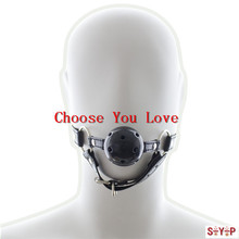 2016 Leather Harness Mouth Soft Solid Gag ,oral Fixation Game For Sex Dolls Fetish,sex Restraint Adult Products