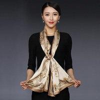 High Fashion 2017 Floral Scarves Women Shawls Long Silk Scarf Butterfly Horse Print Autumn Winter Scarf