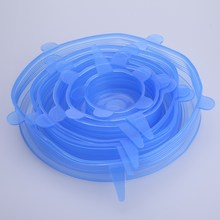 6PCS/Set  Universal Silicone Suction Stretch Lid Cover