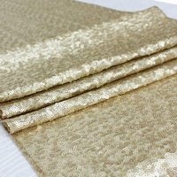 8 Yards Light Gold Sequin Fabric for Wedding/Events/Tablecloth/Backdrop/Table Runner Decoration