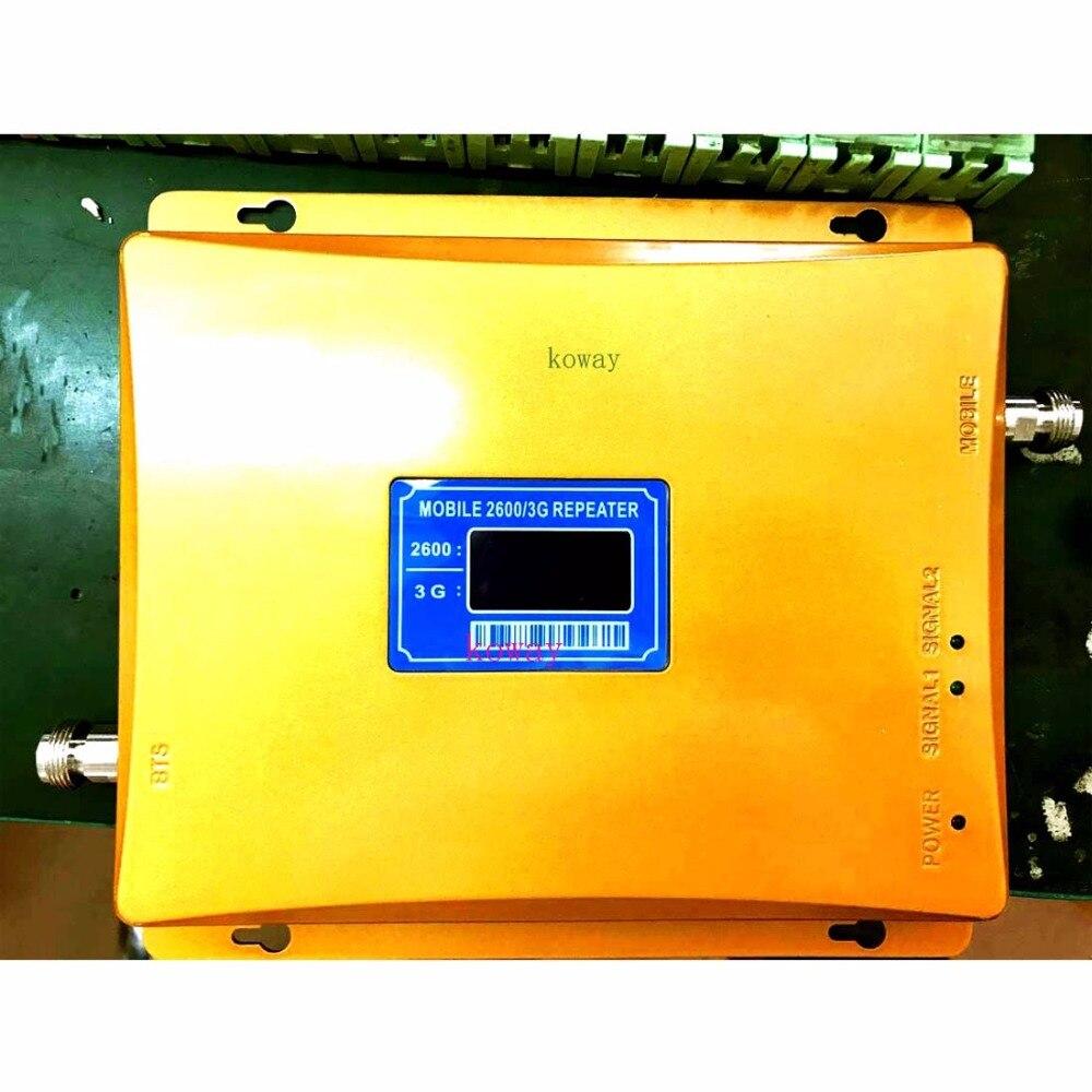 Amplificateur de SIGNAL double bande 3G 4G pour téléphone portable, répéteur de SIGNAL 2100/2600 MHZ 3G 4G, amplificateur de SIGNAL 3G amplificateur de SIGNAL 4G 2600 MHZ