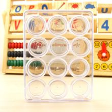 12 Pcs/box High-definition Beauty-pupil Display Box Transparent Clear Contact Lens Case Double Boxes