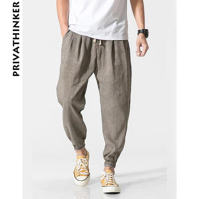Privathinker Marque Casual Harem Pantalon Hommes Jogger Pantalon Hommes  Fitness Pantalon Mâle Chinois Traditionnel Harajuku 2018