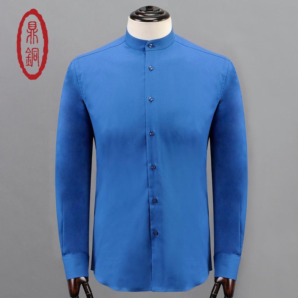 Dingtong 2017 men luxury cashmere cotton shirts brand for High end men s dress shirts