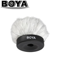 BOYA BY P50 Furry Outdoor Interview Microphone Windshield Muff for Shotgun Capacitor Microphones