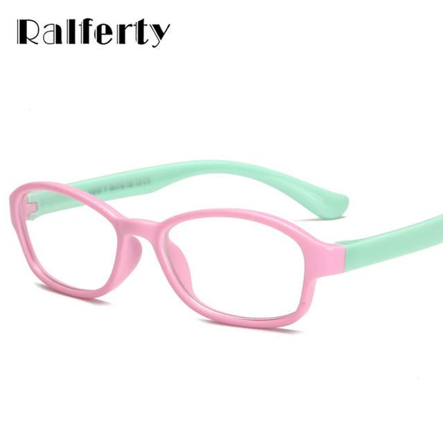 d09d63a191a8c TR90 Ralferty Qualidade Da Marca Crianças Menino Menina Óculos de  Prescrição Óculos de Armação Transparente Grau