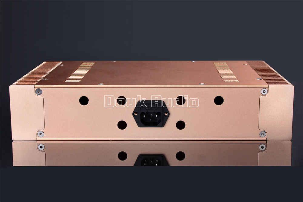 """Золото Алюминий шасси класс Мощность усилители с покрытым алюминием коппусом, изготавливаемый по методу """"сделай сам"""" W336 * H75 * D208mm"""