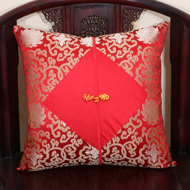 Chinese knot Large Silk Pillow Covers 50x50 60x60 Cushion Covers for Sofa Chair Luxury Christmas Decorations Pillowcase