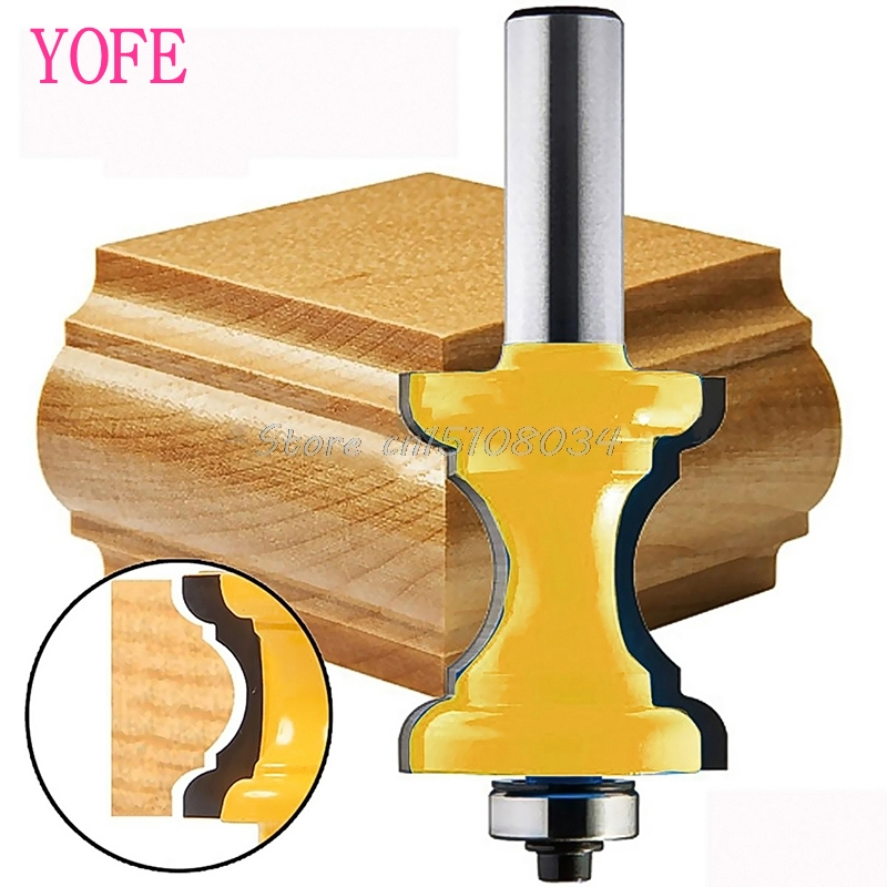 1/2'' Shank Bullnose with Bead Column Face Molding Router Bit Woodworking Tool #S018Y# High Quality face molding router bit 1 2 inch shank large triple bead column woodworking tenon tool