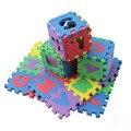 36 pçs/set 17.8*13.5*1.7 cm Do Bebê Kids Play Mat Alfabeto Numerais Chão Macio Rastejando Esteiras do Enigma Mini para Crianças de Espuma Tapete