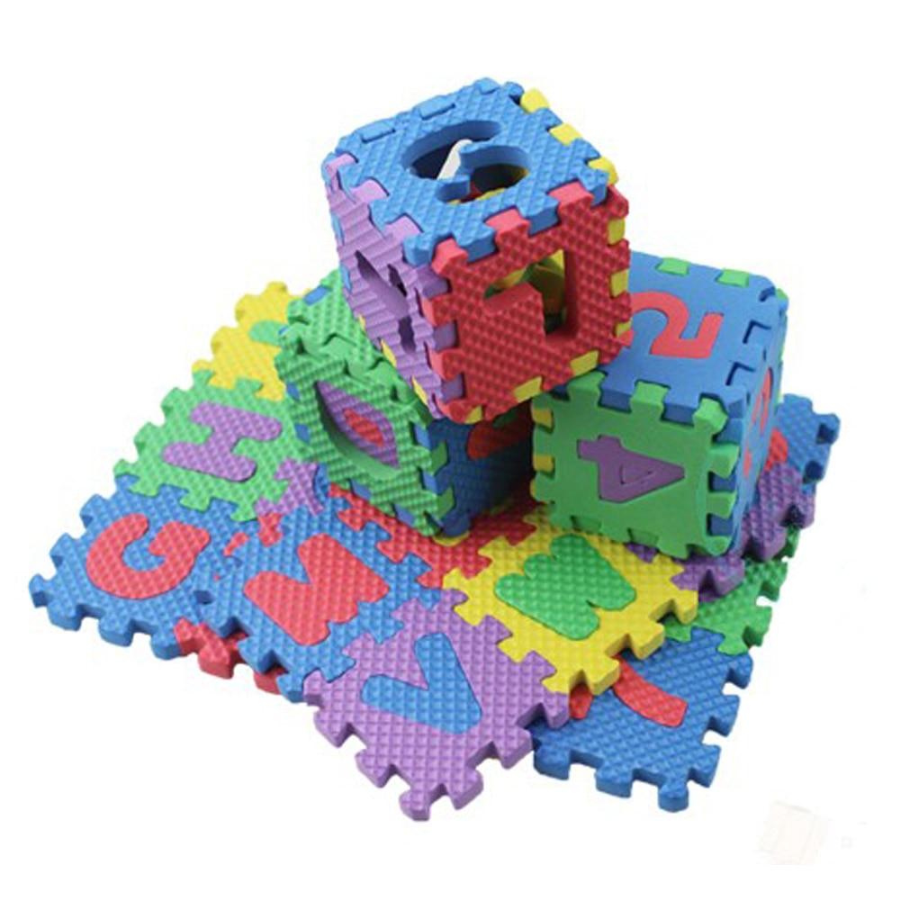 36pcs Set Baby Kids Mini Puzzle Mats Alphabet Numerals Soft Floor Crawling Play Mat for Children