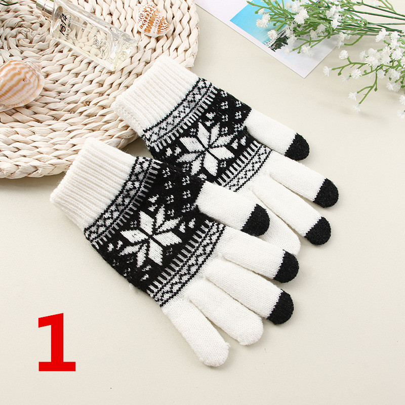 5 Colors Fashion Soft Warm Mitten Glovess