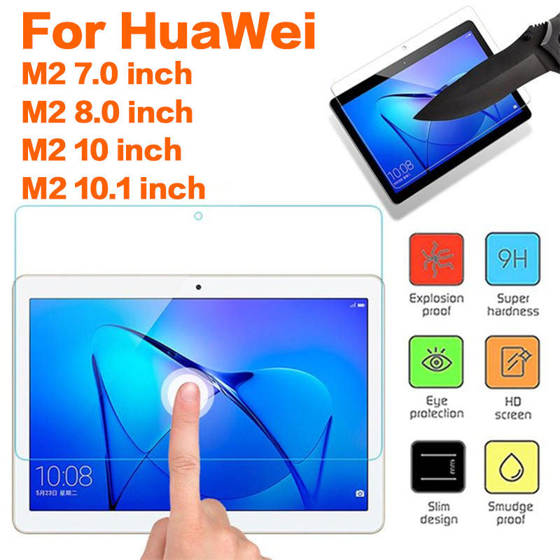Tempered Glass For Huawei MediaPad M2 7.0 8.0 10.0 10.1 Inch Tablet Screen Protectors Flim Protective Glass On Media Pad M2 10