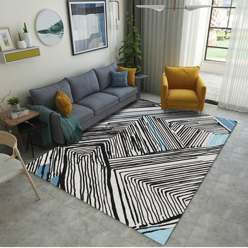 Modern Minimalist Living Room Rug Nordic Ins Geometric