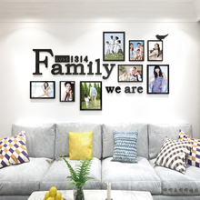 Photo frame photo wall acrylic 3D self-adhesive wall sticker Creative company living room bedroom Background wall painting photo frame removeable decorative background wall sticker