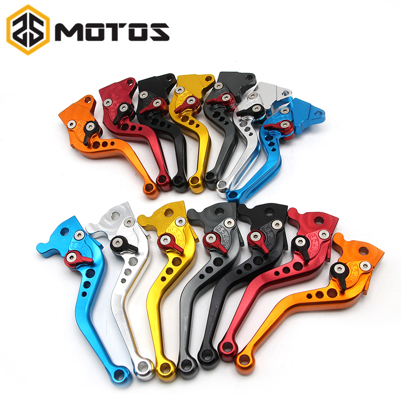 ZS MOTOS Aluminum CNC Motorcycle Disc Brake Lever Scooter Electric modify brake lever GY6 JOG 110CC XMAX Adjustable Handlebar scooter drum brake lever handle electric scooter biker fit most moped motorcycle level brake