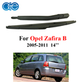OGE rear wiper arm and blade 16 inch for Opel Zafira B MK 2 (05-11)5-door MPV 2005-2011 14'' rubber,car accessaries ROP28-2A