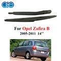 Oge limpador traseiro braço e lâmina de 16 polegada para opel zafira b mk 2 (05-11) portas MPV 2005-2011 14 ''de borracha, accessaries carro ROP28-2A