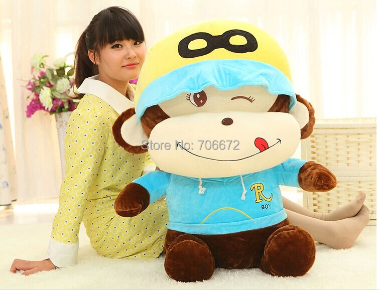 купить huge 110cm naughty monkey plush toy,throw pillow Chirstmas gift s0718