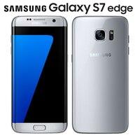 Desbloqueado Original Samsung Galaxy S7 Borda 4G LTE Telefone Móvel NFC 5.5