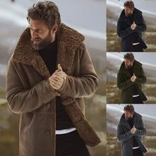 2018 зимние Для мужчин пальто Модная брендовая одежда с флисовой подкладкой толстые теплые шерстяные пальто мужской полушерстяные Для мужчин пальто плюс Размеры предпродажа