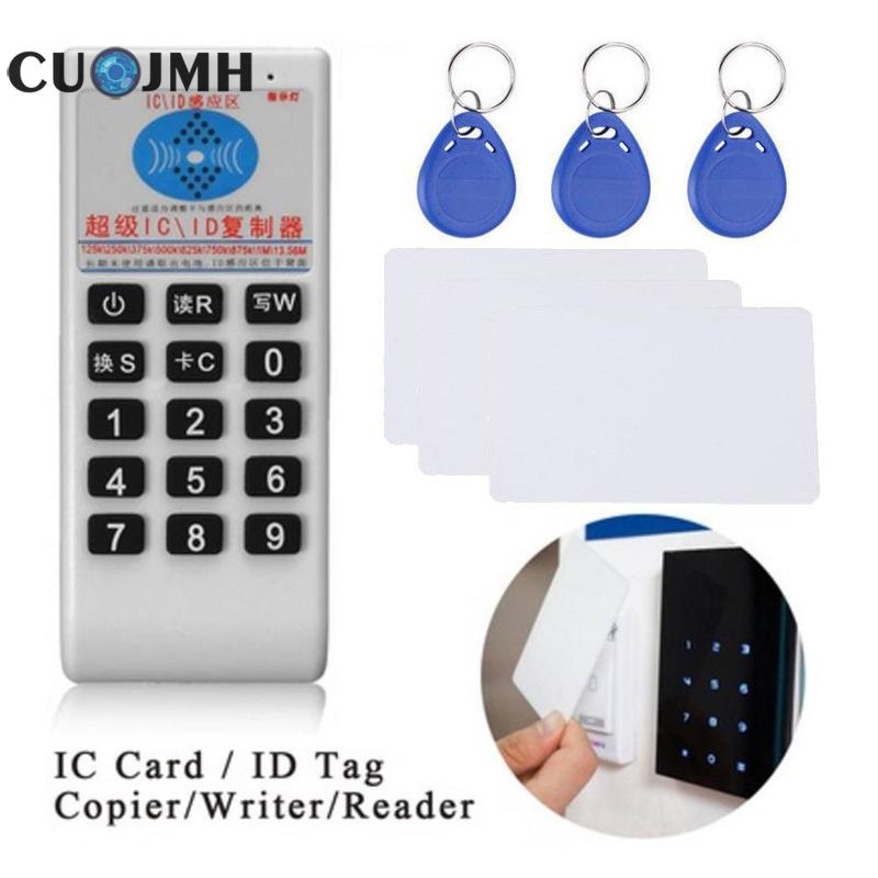 1 Set Copying Machine Pvc Color White 13.56mhz Rfid Id/ic Nfc Card Reader Waterproof Durable Intelligence All-in-one Machine