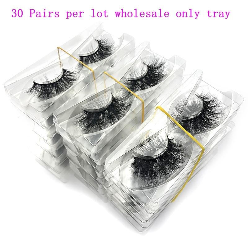 HOT SALE] 30pcs wholesale 5D 25mm mink eyelashes 100