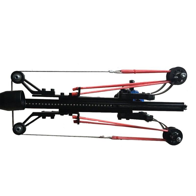 Semi automatique fronde chasse pêche arc puissant catapulte bobine multifonction en acier balle munitions flèche tir continu 40BB - 5