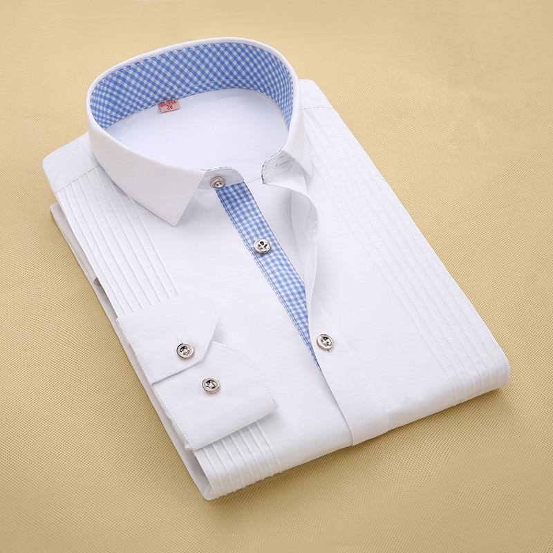 Closeout DealsTuxedo Shirt Men Dress Long-Sleeve Three-Dimensional High-Quality Groom Male M024 Married