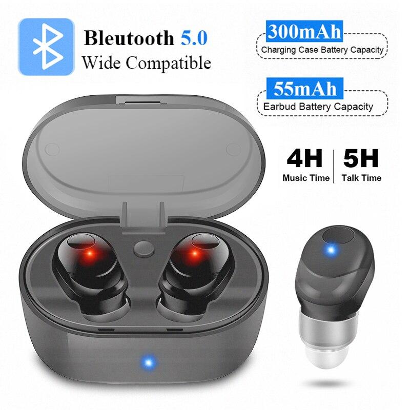 Drop Shipping Wireless Buetooth Earphone Noise Canceling Headphone Handfree Ear pods TWS Touch Control Bluetooth Earphone Sport