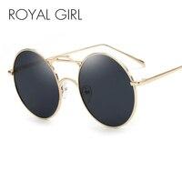 نظارات شمسية عصرية للنساء من ROYAL GIRL بتصميم جديد لعام 2020 نظارات شمسية بإطار معدني مستدير طراز ss800-في نظارات شمسية نسائية من الملابس والإكسسوارات على