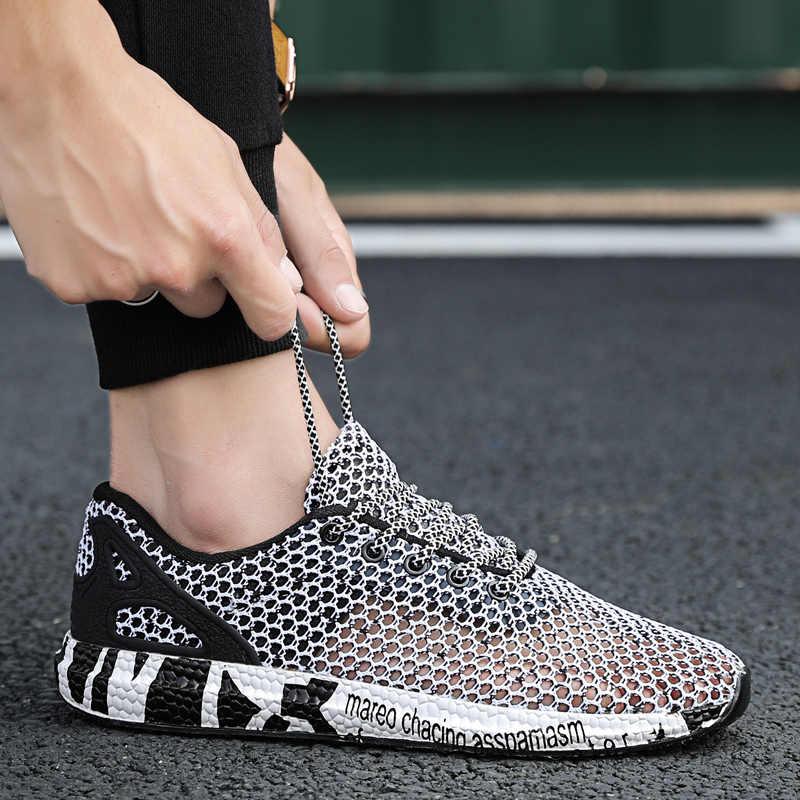 Męskie sandały oddychające siatki trampki buty 2019 nowy