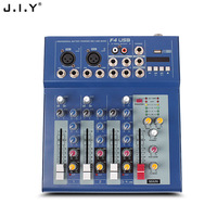 F4 4 road professional performance mixer with reverb USB stage / dance DJ mixer