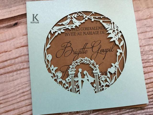 Romantic Bridegroom Design Wedding Invitation Card Handmade