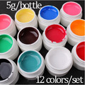 Volodia 12 colores/Lot french manicure set gel uv color puro gel uv constructor de uñas de gel de uñas profesional gel set