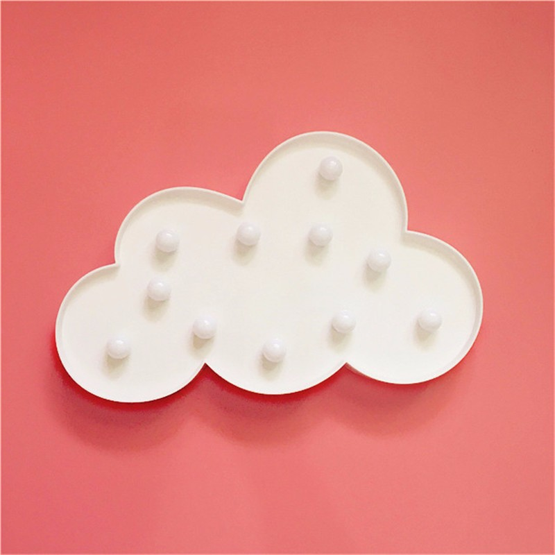 cheap INS Clouds LED 3D Night Light Atmosphere Nightlight Marquee Desk Table Lamp Letter For Kids Gift Decoration Indoor Night Lamps pic,image LED lamps offers