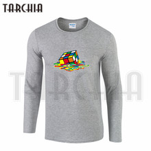 TARCHIA Colorful Men's Long Sleeve Fahion T-Shirt 100% Cotton Casual Tee Plus Size Rubik's Cube From The Big Bang Theory(China)