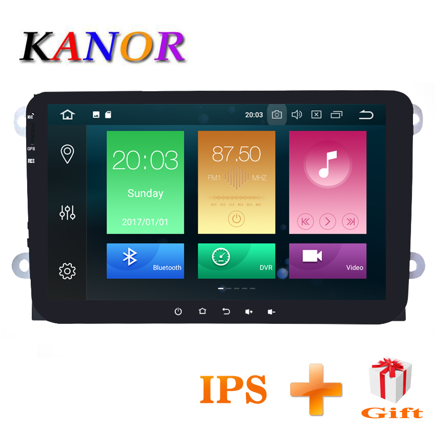 KANOR 4 + 32g IPS 2 din android 8.0 voiture radio pour vw passat b5 b6 jetta golf 5 6 bora tiguan polo caddy voiture lecteur multimédia