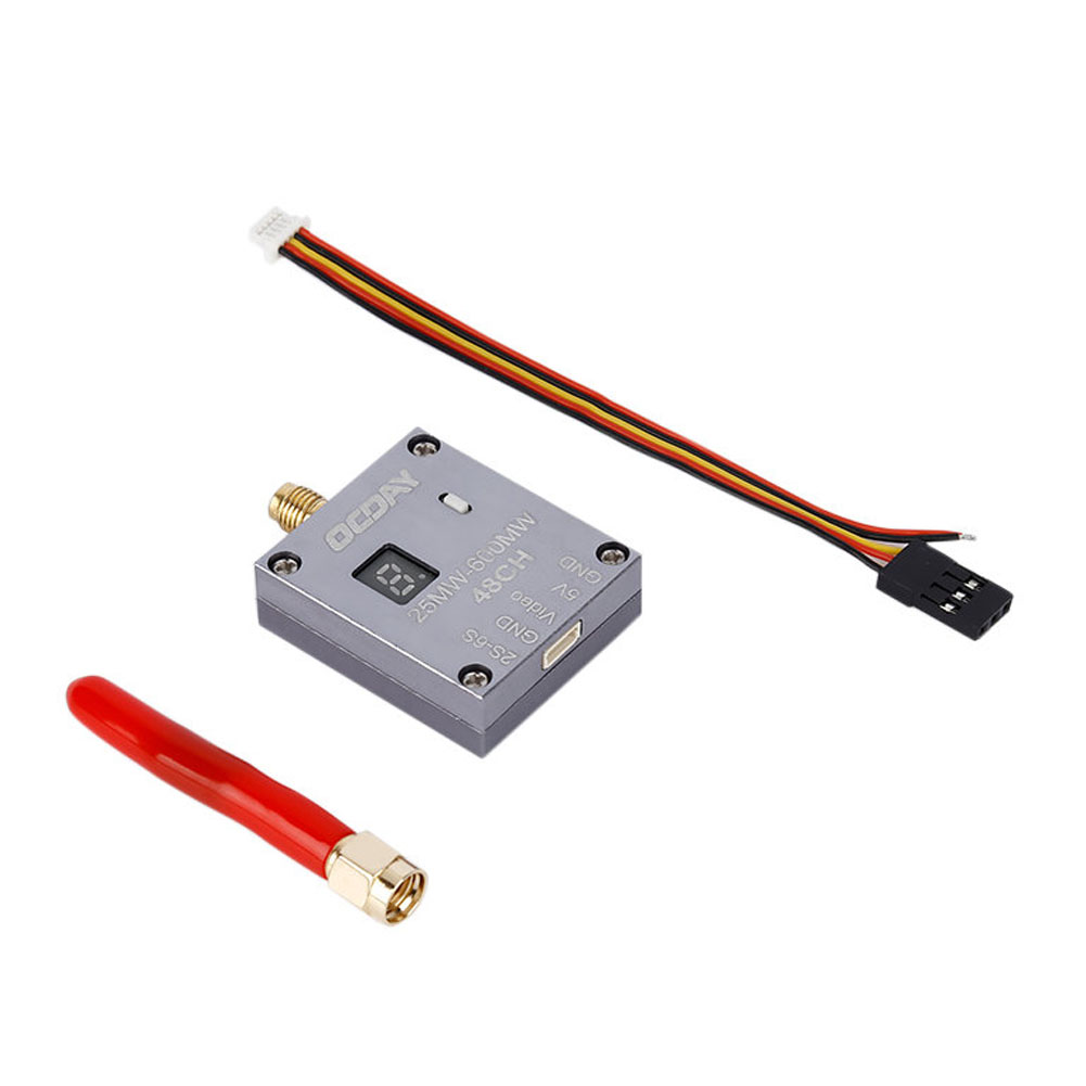 25-600MW 5.8G 48CH 2S-6S Video Audio Transmitter SMA Straight Connector RC Airplane RC Drone Parts & Accs