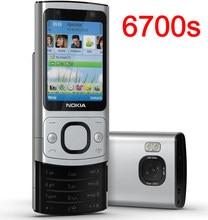 Nokia 6700s remodelado telefone móvel 3g gsm prata silder original desbloqueado
