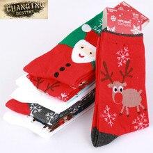 Eur напечатаны олень снежинка чулки рождественский один случайные девушка хлопка дамы