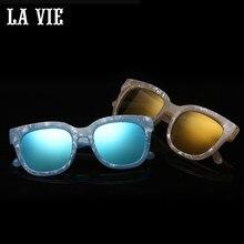 La Vie поляризационные Дизайн для леди солнцезащитные очки высокое качество ацетат кадр женские винтажные солнцезащитные очки Óculos де золь LVA322