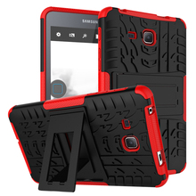 Heavy Duty Armor Hybrid TPU + Plastic Shockproof Hard Cover For Samsung Galaxy Tab A 9.7 T550 T555 Stand Tablet Case  yh hybrid stand silicone armor pu leather tpu back case cute cover for samsung galaxy tab a 9 7 inch tablet sm t555 t550 t555c